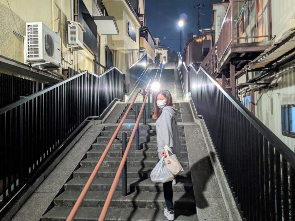 こず姉,飯坂温泉階段