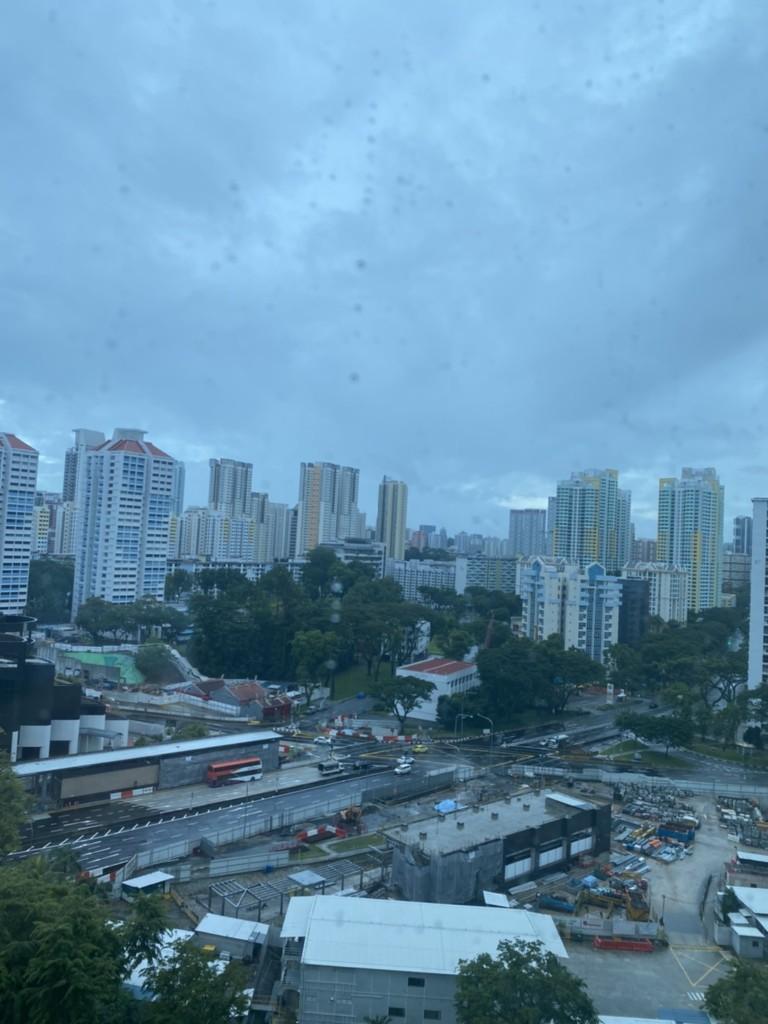 雨のシンガポール